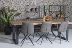 Eettafel - Brix - Naturel hout / Zwart