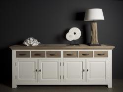 Parma white dressoir 220cm. € 1299,-