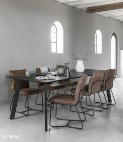 DTP Home Timeless Black - Shape dining table rectangular