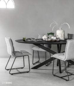 DTP Home Timeless Black - Shape dining table oval