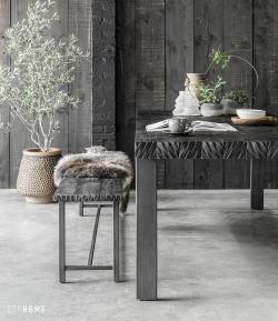 DTP Home Timeless Black - Beam dining table & bench