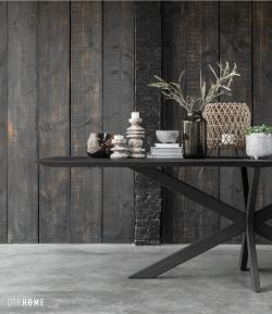 DTP Home Timeless Black - Curves dining table