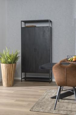 Kala 2 Doors - Cabinet - Mangohout zwart