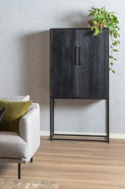 Cabinet - Kala - Mangohout zwart